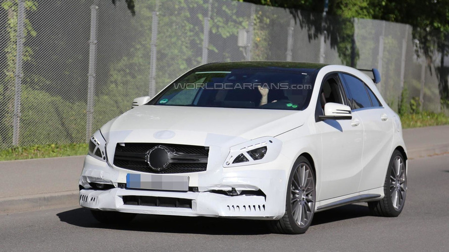 Facelifted Mercedes-Benz A45 AMG spied near company headquarters