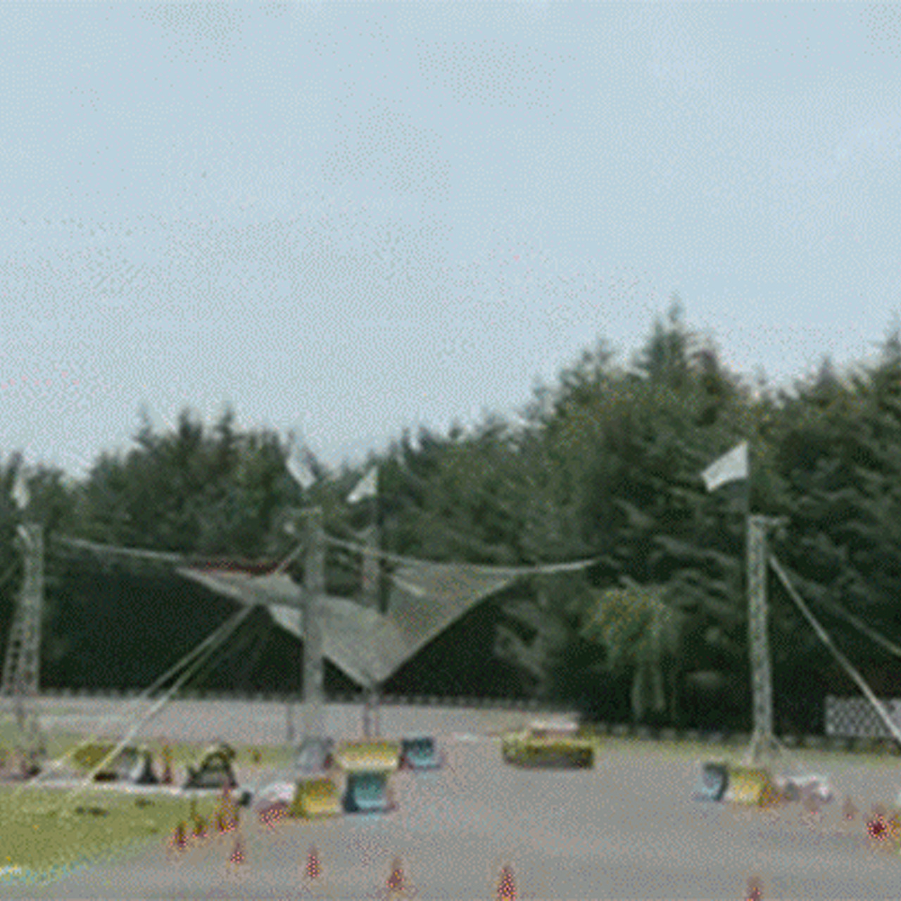 Watch a Corvette Z06 Release a Net That Catches a Human Cannonball
