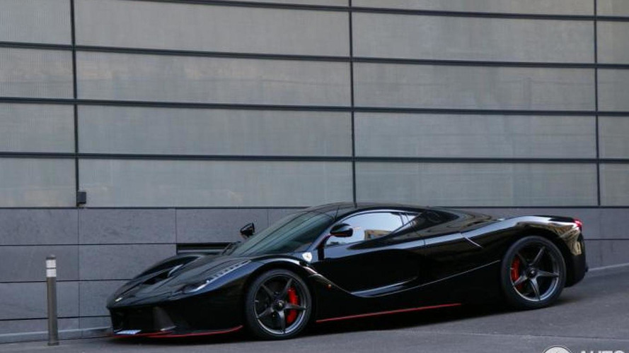 Felipe Massa's black LaFerrari photographed up close