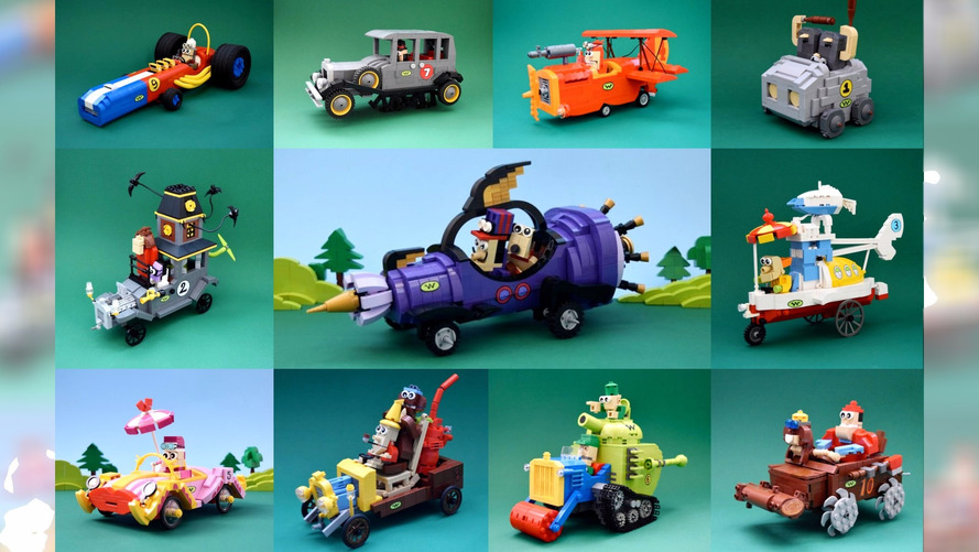 Wacky Races comes back to life thanks to handmade Lego models