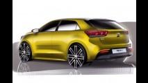 Versão de produção do novo Kia Rio 2017 é antecipada por projeção