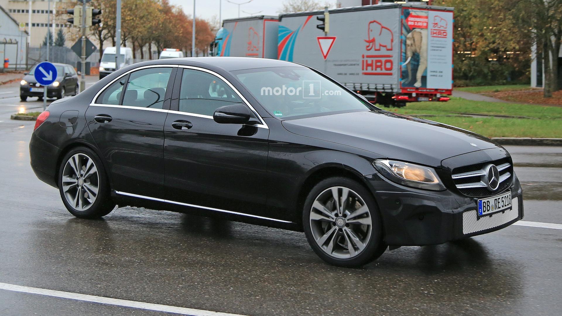 2018 mercedes benz c class freshens up in new spy shots for Mercedes benz website usa