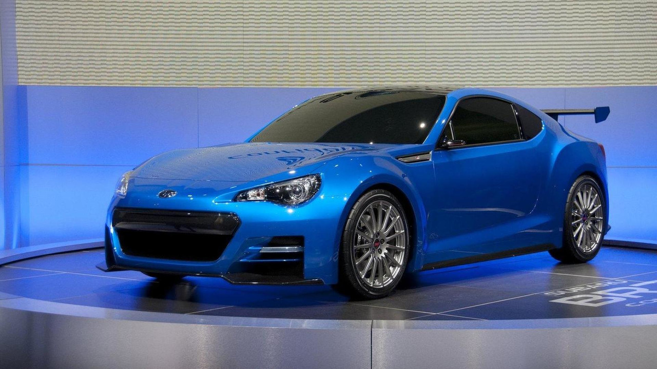Subaru BRZ STI concept live in Los Angeles 16.11.2011