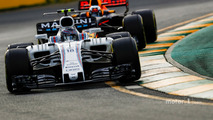 Lance Stroll, Williams FW40, leads Daniel Ricciardo, Red Bull Racing RB13