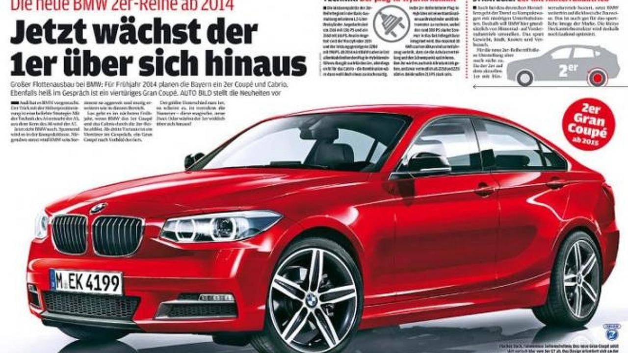 BMW 2-Series GranCoupe render / AutoBild.de