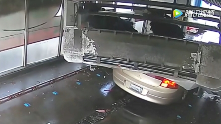 Car Gets Flattened By Car Wash For Not Following Instructions