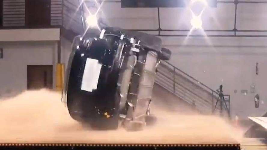 Watch Tesla Try To Roll Over The Model X… Not An Easy Task