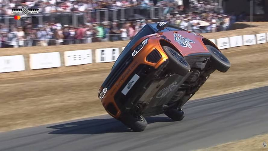 Range Rover Sport SVR, Goodwood'u iki teker üstünde gezdi