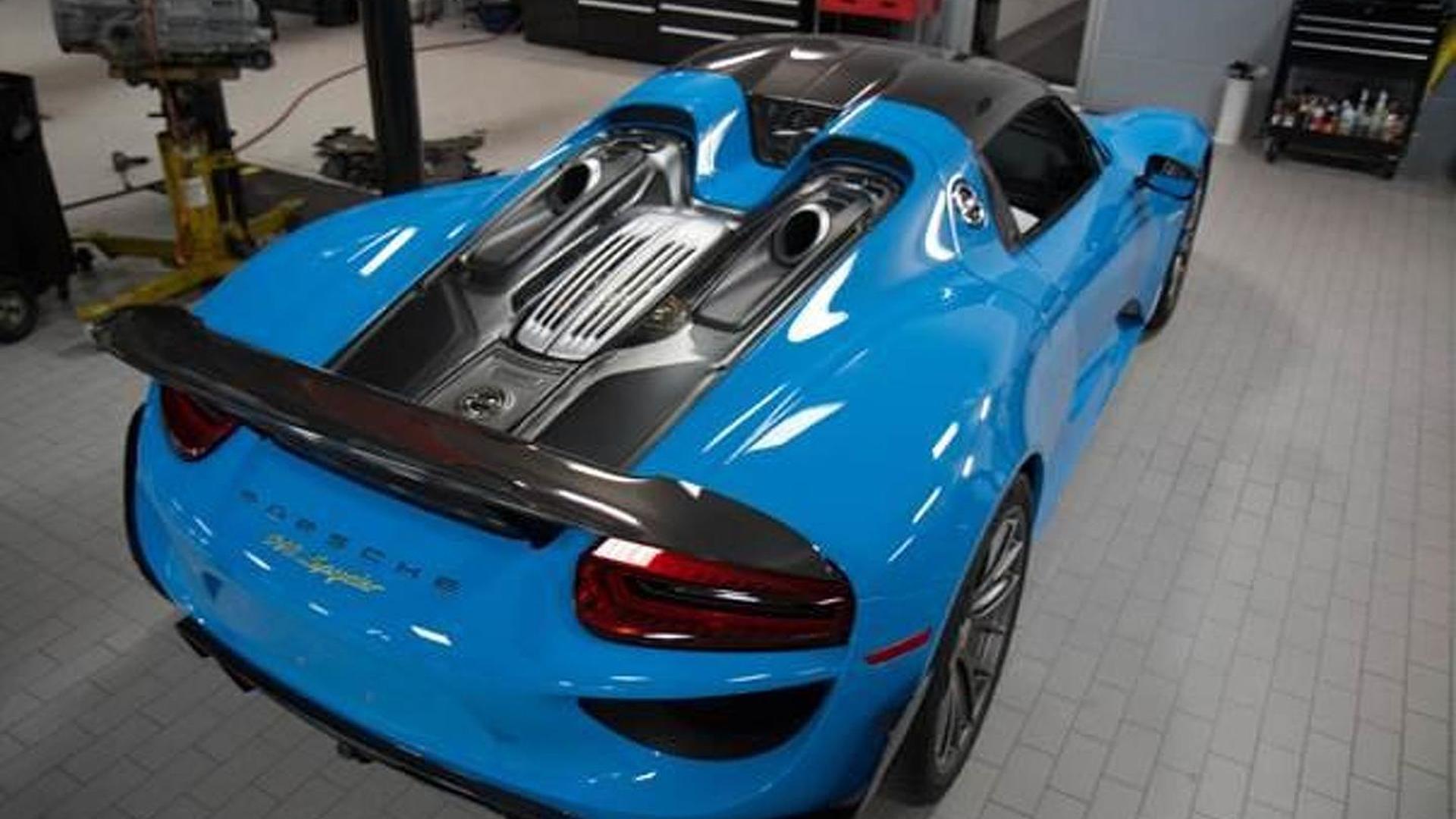 2015-560255-porsche-918-spyder-riviera-blue-with-weissach-package1 Amazing Porsche 918 Spyder sold Out Cars Trend