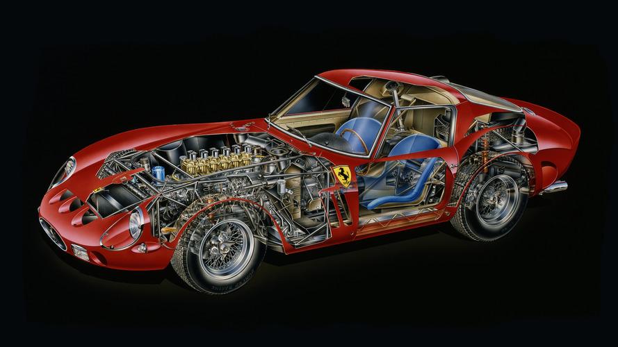 Teknik Çizim: 1962 Ferrari 250 GTO