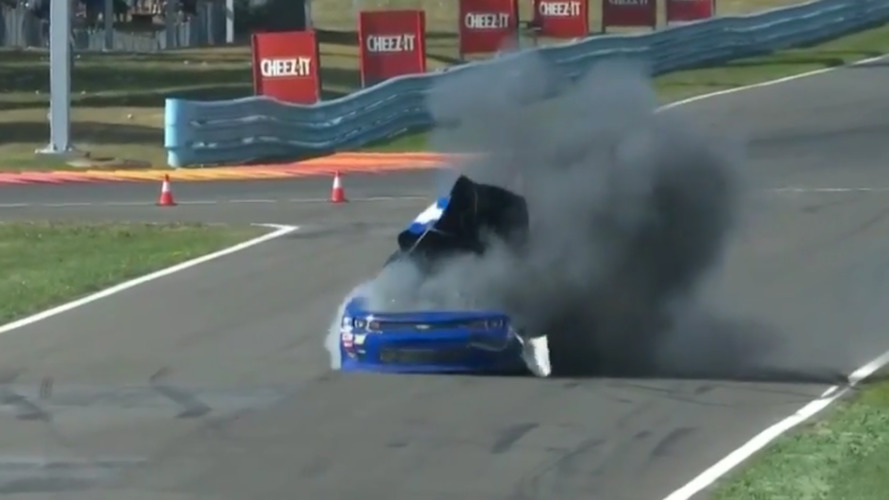 NASCAR impounding Cope car after bizarre explosion - video