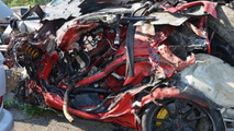 2011 Porsche GT2 RS crash