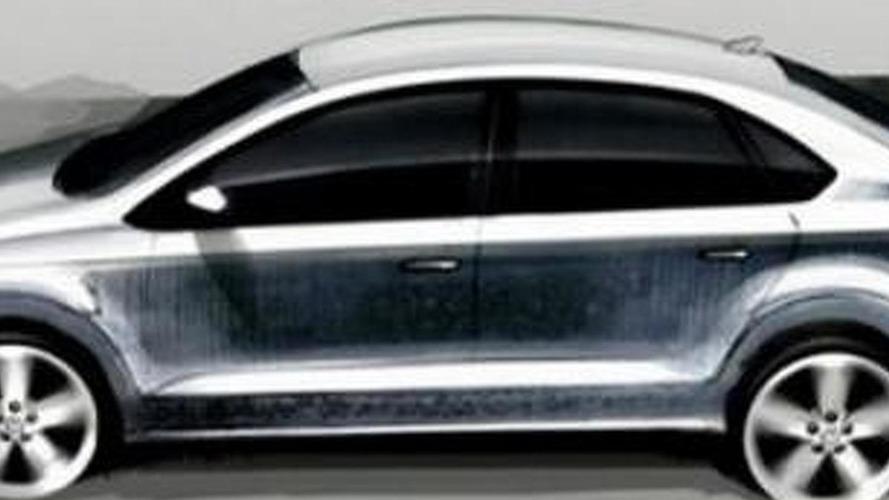 New 2012 VW Polo / Vento sedan sketches surface