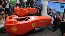 Felipe Massa, Fernando Alonso - Ferrari Virtual Academy, the first virtual simulator of the Scuderia Ferrari, 10.09.2010