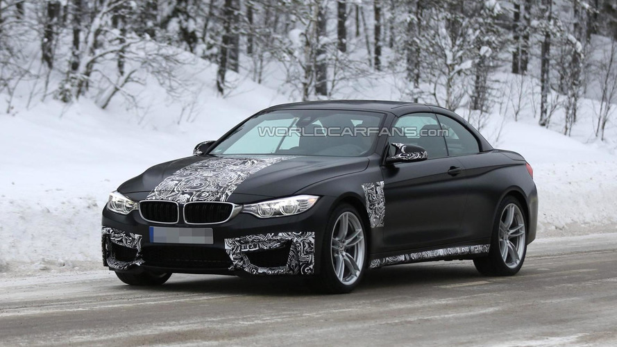 Lightly camouflaged BMW M4 Convertible returns in fresh spy photos
