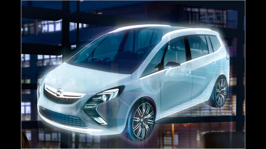 Neuer Opel Zafira: Designstudie in Genf zu sehen