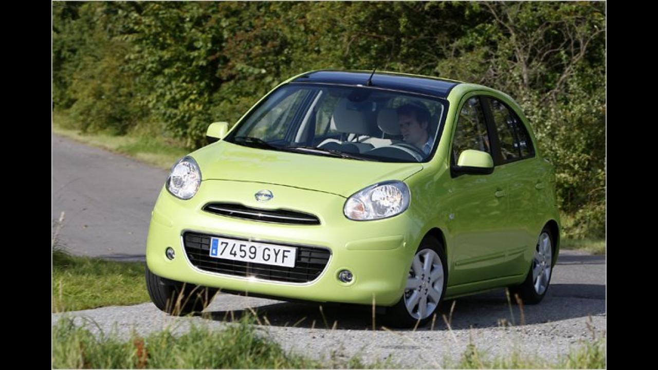 Nissan: Micra, Qashqai, Note und Juke aus England