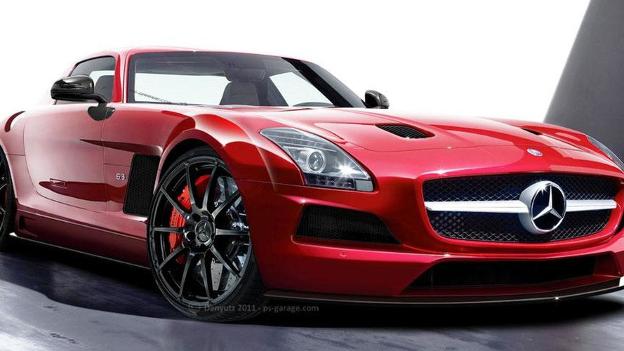 Mercedes SLS AMG Black Series gets rendered