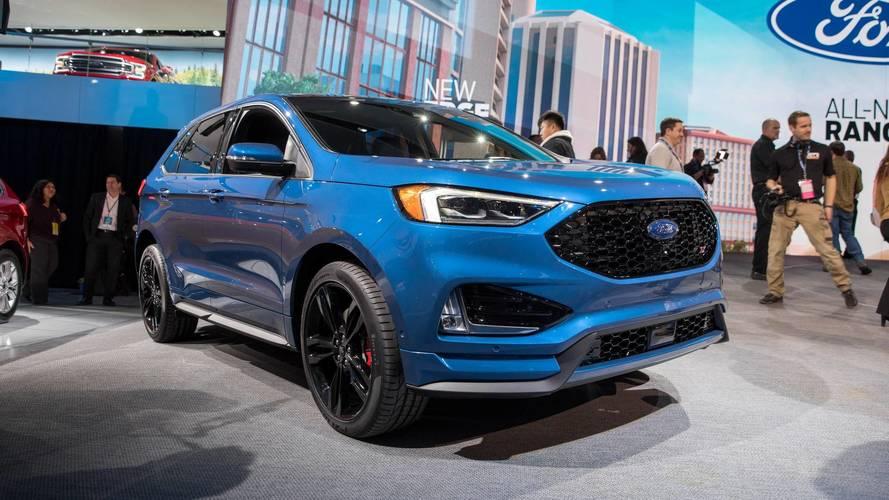 PHOTOS - Le Ford Edge restylé au Salon de Détroit 2018