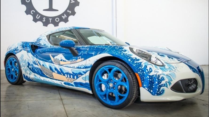 "Alfa Romeo 4C Hokusai, ""l'opera d'arte"" di Lapo Elkann"