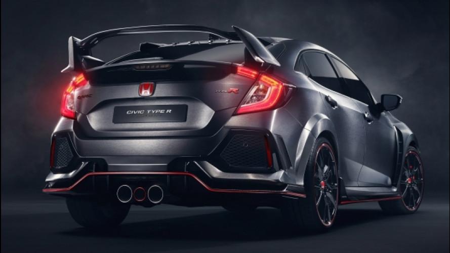Salone di Parigi, la Honda Civic Type R è una