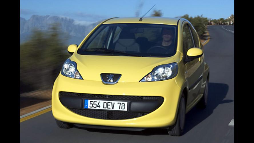 Peugeot auf der AMI: 107, 1007 und 206 CC HDi FAP