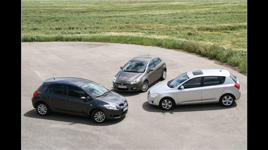 Kompakte Erbengeneration: Drei Diesel im Direktvergleich