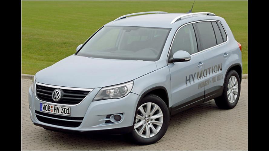 Weltpremiere des VW Tiguan mit Brennstoffzellen-Antrieb