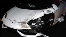 Crashed Lamborghini Huracan Rental