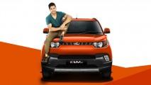 Parece brinquedo: Mahindra revela compacto KUV100 que leva até 6 pessoas