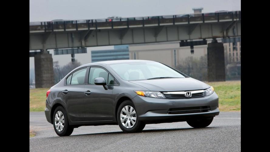 Novo Honda Civic 2012 poderá ser reestilizado ainda neste ano nos EUA