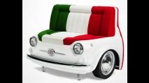 Vintage: Fiat exibe peças decorativas inspiradas no modelo 500 da década de 1970