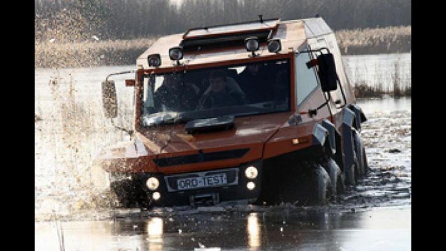Avtoros Shaman 8x8, l'autocarro anfibio