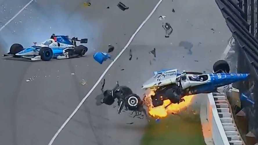 Scott Dixon Escapes Massive Airborne Crash That Halts Indy 500