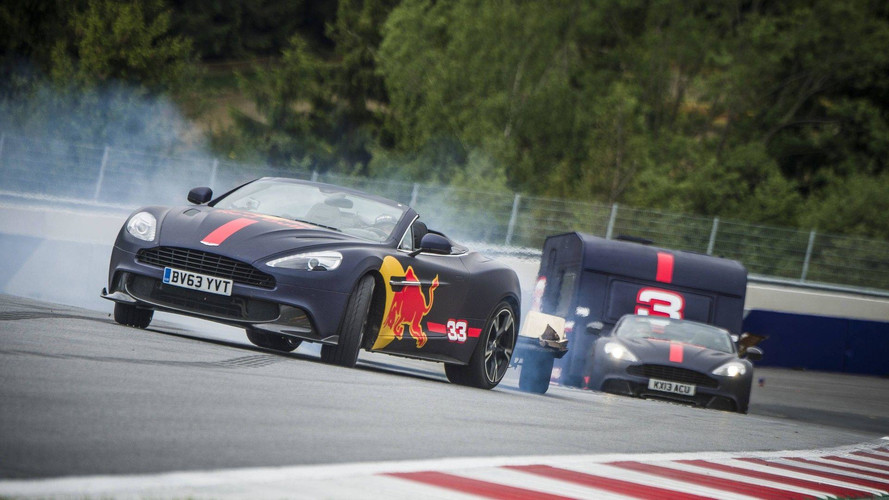 Red Bull F1 Drivers Stage Crazy Race While Towing Campers