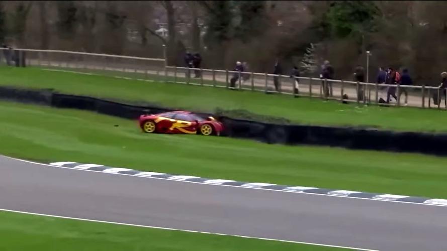 VIDÉO - Le batteur des Pink Floyd, Nick Mason, crash sa McLaren F1 GTR