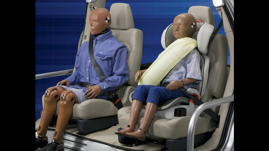 Airbag nelle cinture: sulle Ford dal 2012