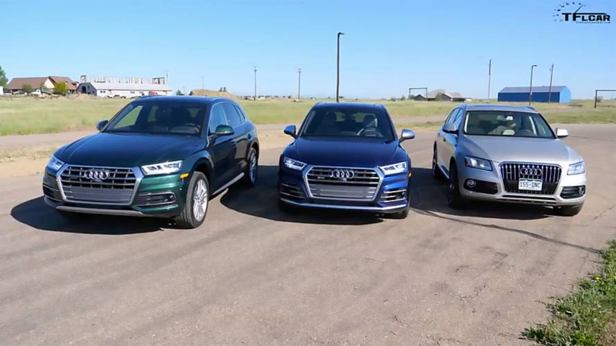 watch an audi q5 sq5 and q5 diesel drag race. Black Bedroom Furniture Sets. Home Design Ideas