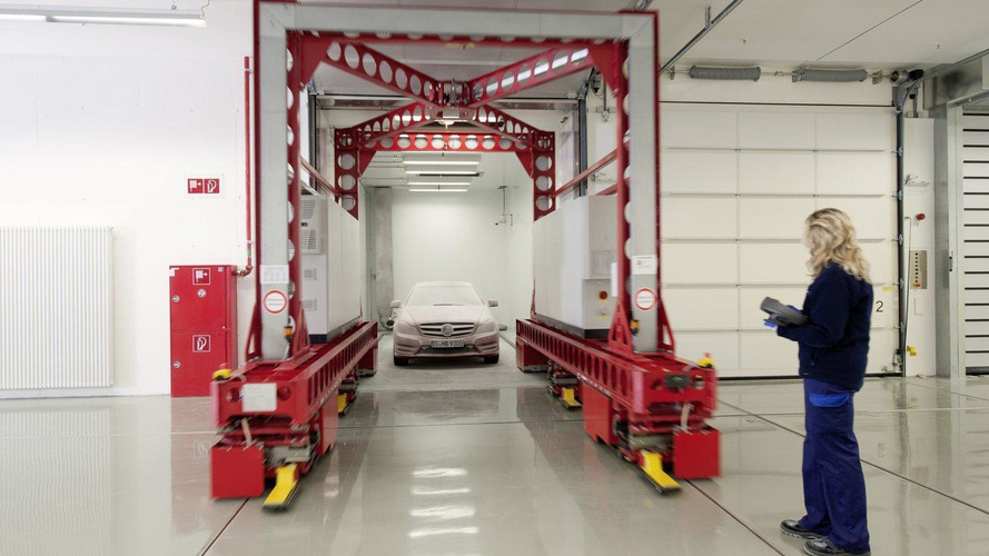 New Mercedes climatic wind tunnel creates own weather [video]