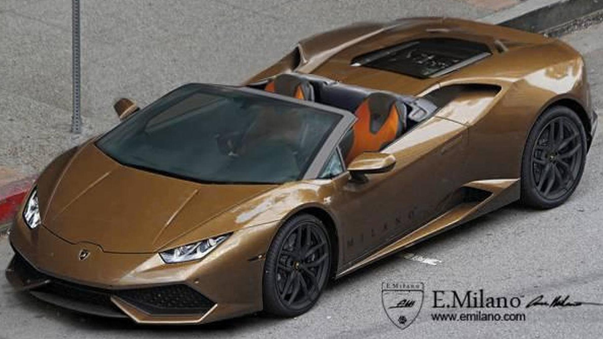 Неофициальный дизайн Lamborghini Huracan Spyder от Evren Milano