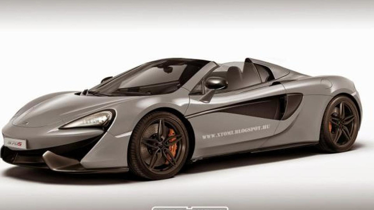 McLaren 570S Spider render