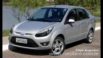 Projeção: Novo Ford Fiesta Sedan 2011 reestilizado com visual do Figo