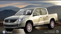 Volkswagen mostrará a nova pick-up Robust no Salão de Hannover no dia 25