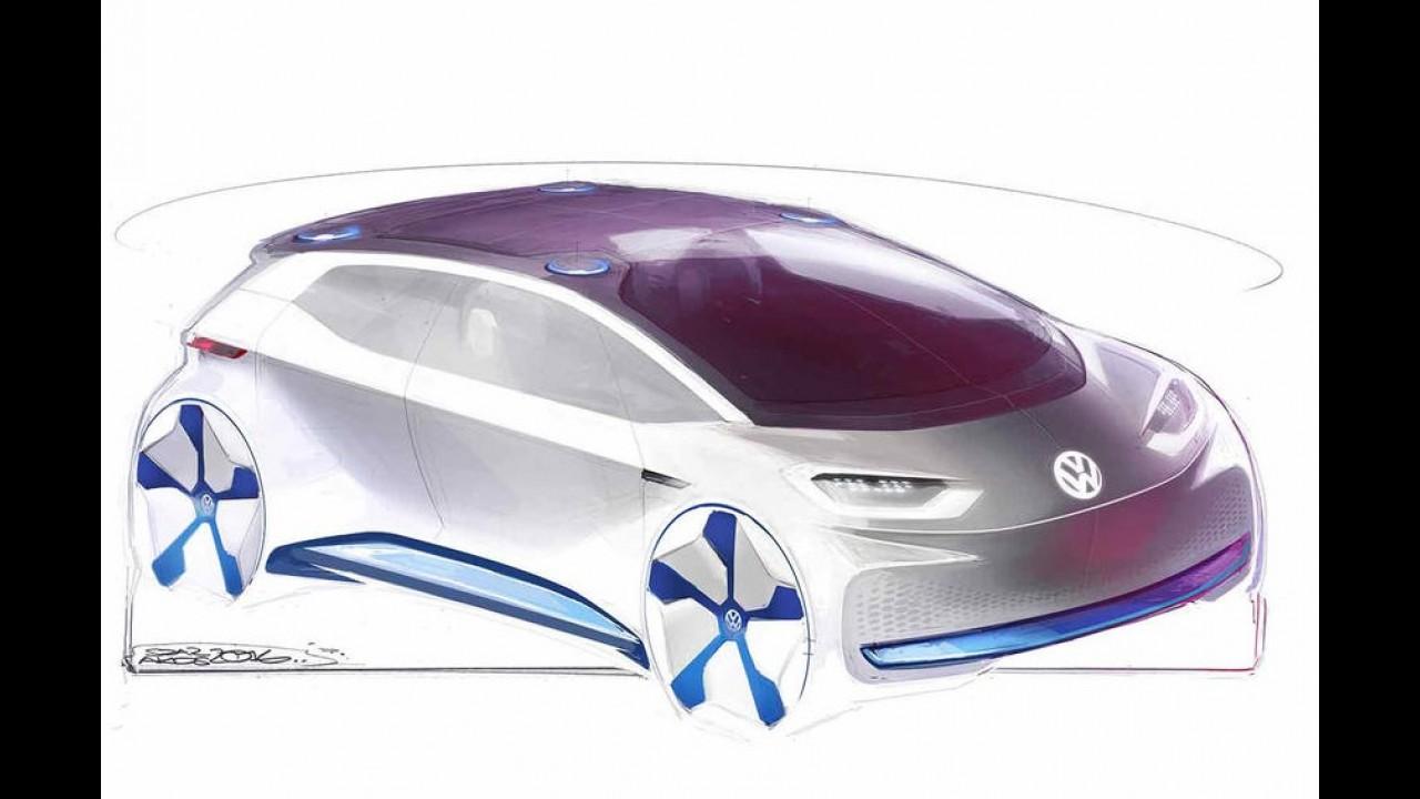 """Volkswagen divulga mais ilustrações do hatch elétrico """"tão revolucionário quanto o Fusca"""""""