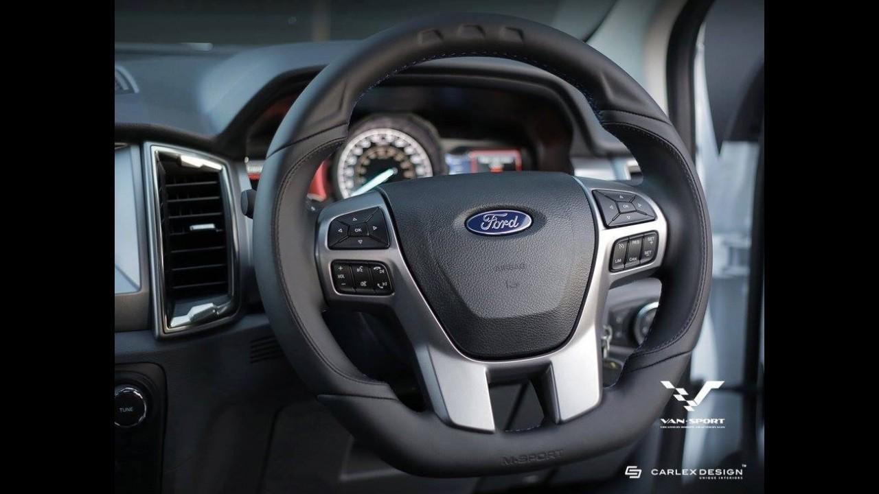 """""""Mini Raptor"""": Ford Ranger ganha versão """"mal encarada"""" ao estilo da F-150"""