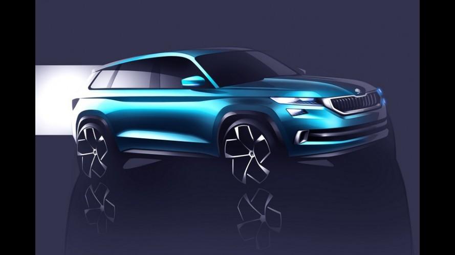 Skoda VisionS: prévia de inédito SUV da marca aparece em esboços