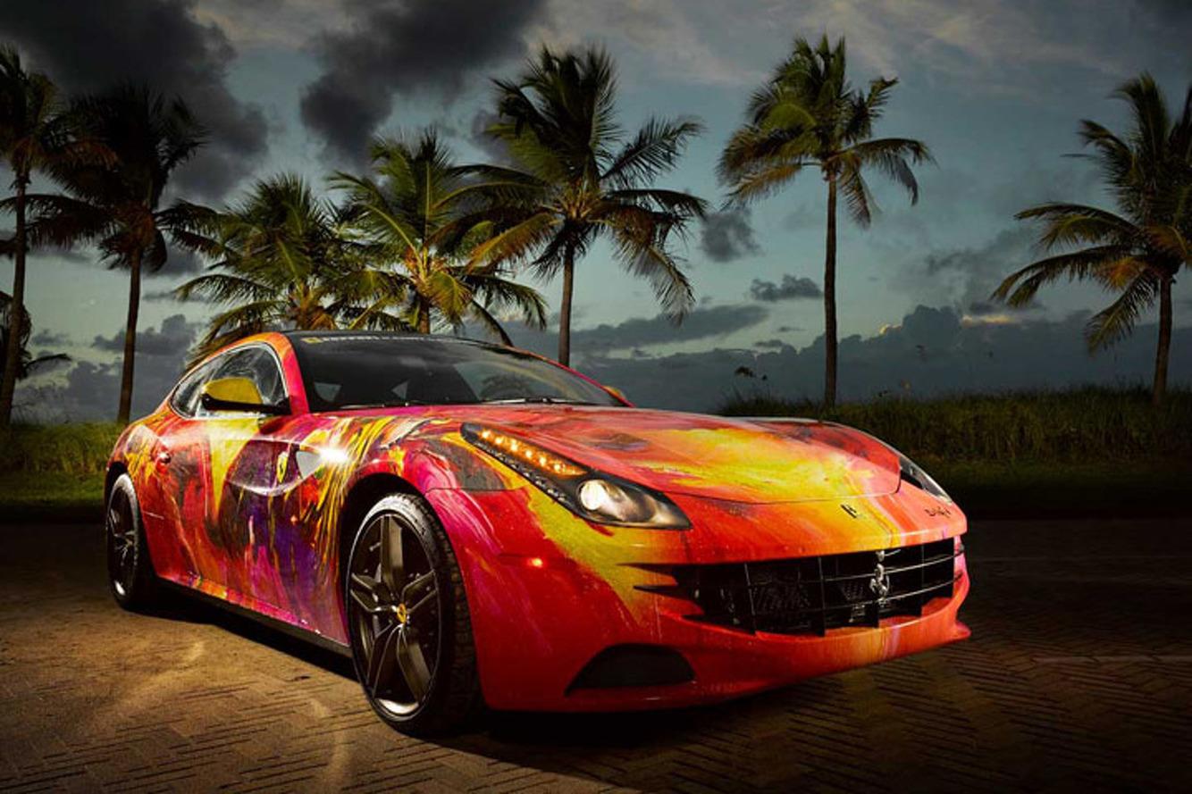 French Artist Turns $300K Ferrari FF into a Work of Art