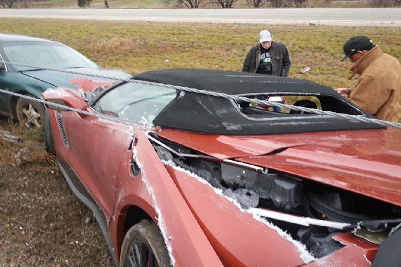 First Corvette Z06 Crash Going To Leave a Mark
