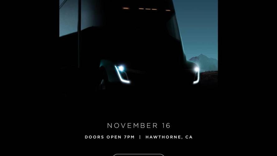 Camion Tesla - Nouveau teaser et présentation imminente