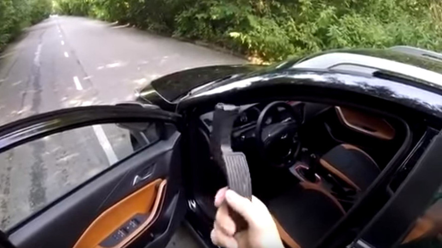 Russian Chery Test Drive Ends With A Broken Gas Pedal